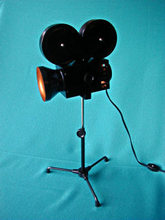 MOVIE CAMERA DESK LAMP - Product Image